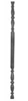 Столб декоративный из трубы Ф51х1,5мм, с продольным рельефом