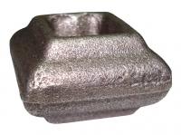 Перстень литой из металла для квадрата 12мм. Размер 22х33мм