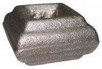Перстень литой из металла для квадрата 14мм. Размер 22х38мм