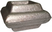 Перстень литой из металла для квадрата 20мм. Размер 35х55мм