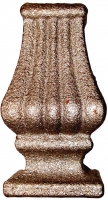 Перстень литой из металла для квадрата 16мм. Размер 75х42мм
