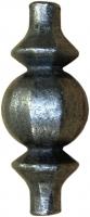 Сердцевина кованая из металла для квадрата 14мм. Размер 80х35мм