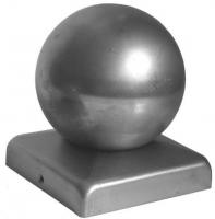 Крышка стойки на трубу 100х100мм с шаром Ф100мм
