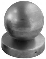 Крышка стойки под трубу Ф100мм с шаром Ф100мм