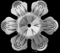 Железный цветок. Размер 65мм. Толщина металла 3мм