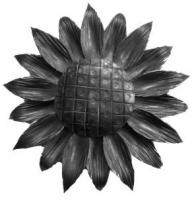 Железный цветок. Размер 180мм. Толщина металла 2мм