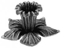 Железный цветок. Размер 90х90мм. Толщина металла 3мм