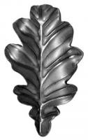 Кованый лист дуба. Размер 95х48мм. Толщина металла 2мм
