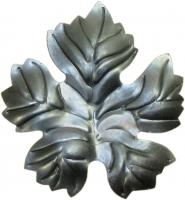 Виноградный лист. Размер 125х115мм. Толщина металла 2мм