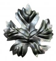 Виноградный лист. Размер 95х85мм. Толщина металла 1,5мм