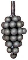Гроздь винограда из металла. Размер 130х50мм. Шар 15мм