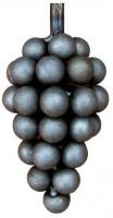 Гроздь винограда из металла. Размер 175х55мм. Шар 15мм