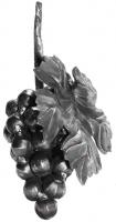 Кованая гроздь винограда. Размер 200х120мм. Шар 20мм