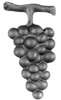 Штампованный виноград. Размер 90х45мм. Металл 1мм