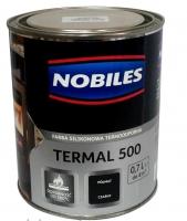 Термостойкая краска Nobiles Termal черная, до 500 °С, 700мл