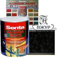 Молотковая краска Senta Hammer, 2,5л, 305 черная